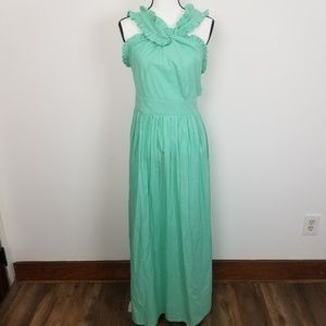 ASOS NWT Womens Ruffle Tie Back Cutout Maxi Dress